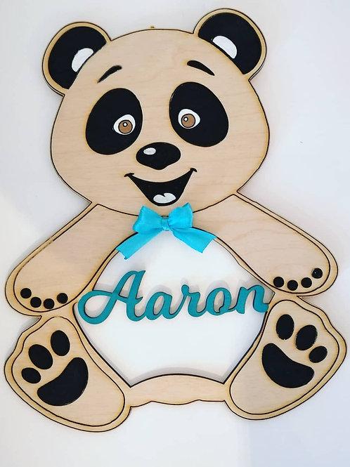 Décoration panda prénom personnalisé