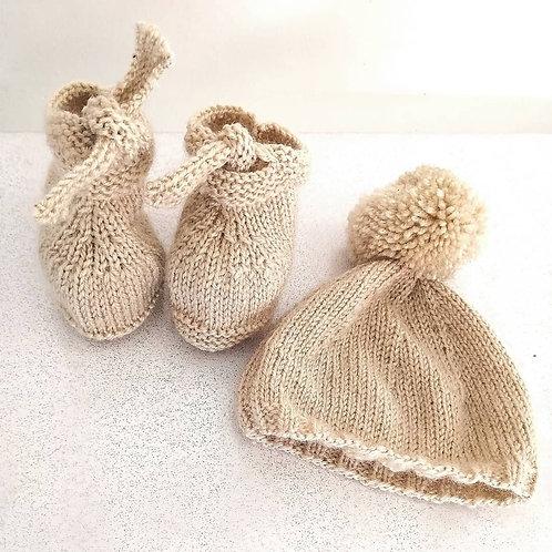 bonnet bébé tricoté mains
