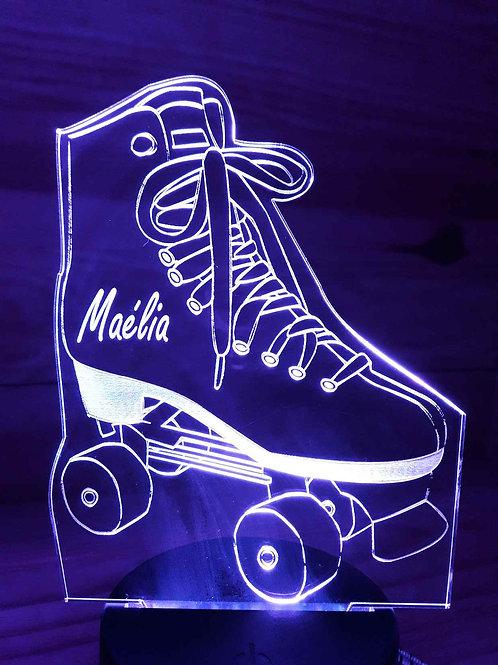 Lampe LED patin à roulettes
