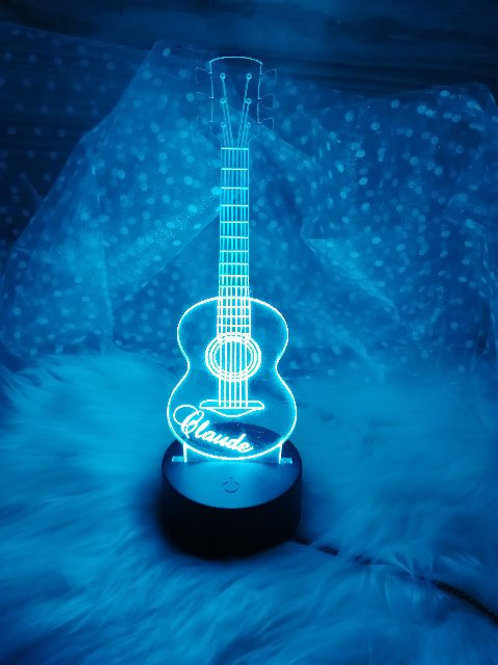 Veilleuse led guitare personnalisable
