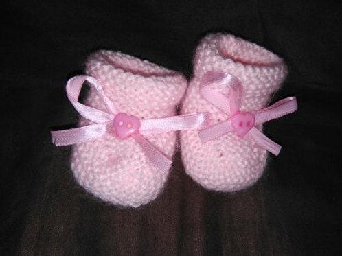 chaussons bébé tricotés mains