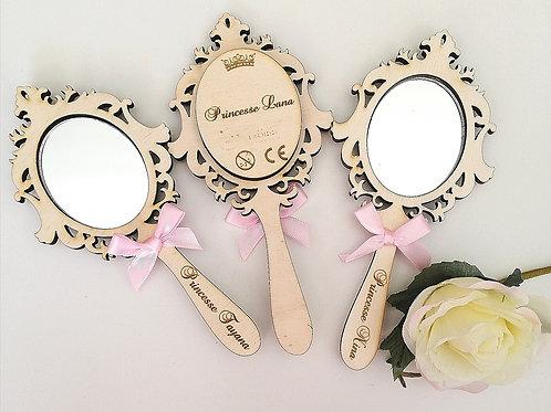 Miroir de princesse personnalisable
