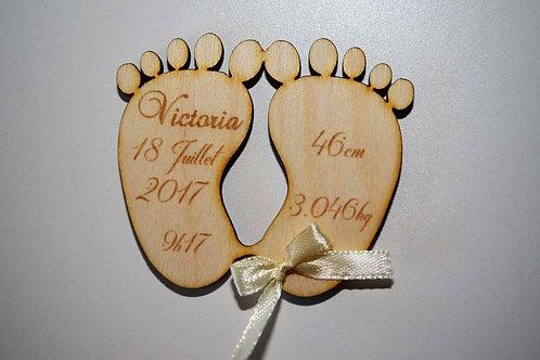 Faire-part de naissance empreinte pieds