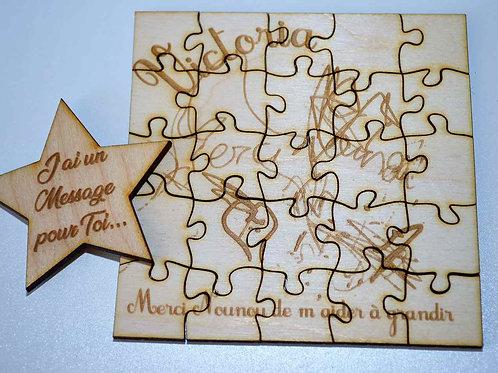 Puzzle message dessin de bébé
