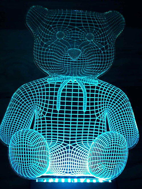 Lampe illusion 3D nounours
