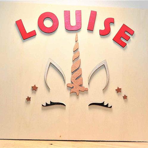 Décoration murale pour bébé licorne minimaliste