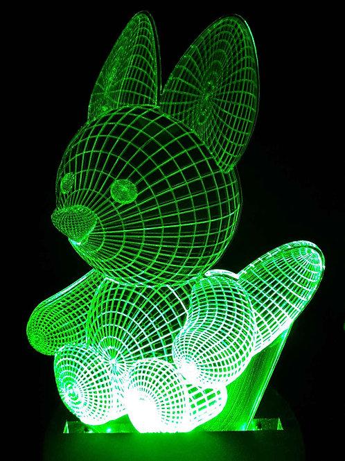 Lampe Led illusion 3D renard