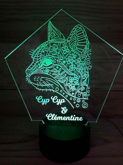 Lampe Chat personnalisé
