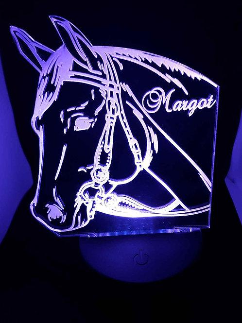 Lampe LED Tête de cheval