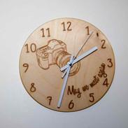 horloge murale photographe
