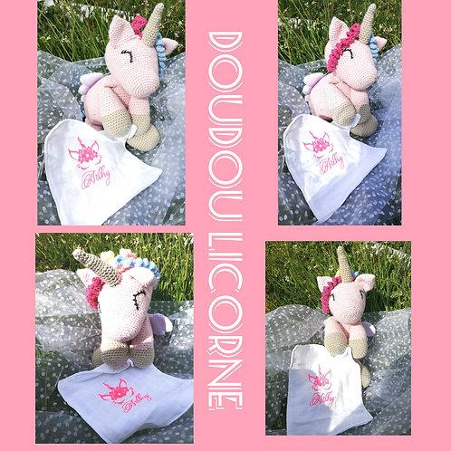 Doudou licorne