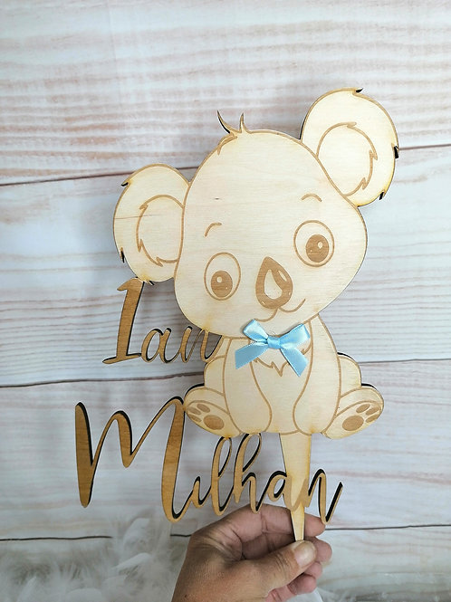 Cake topper koala personnalisable