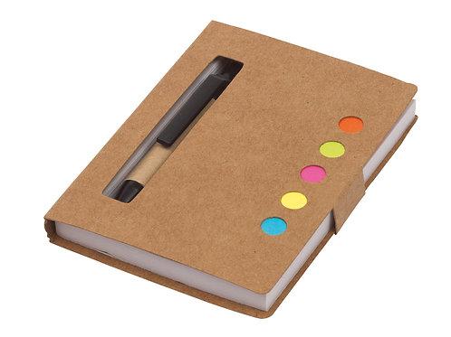 Mini Anotador Con Set Completo (Bolígrafo y Notas adhesivas)