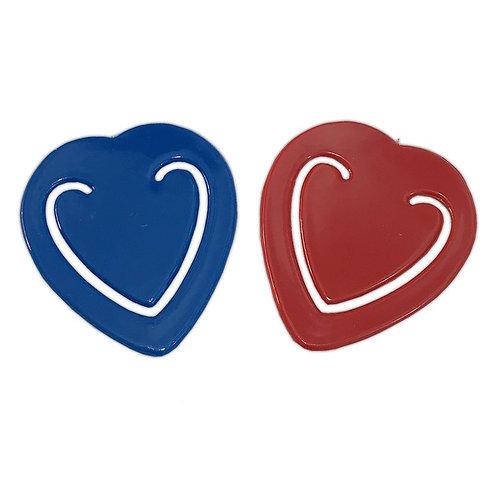 clip papel forma de corazón