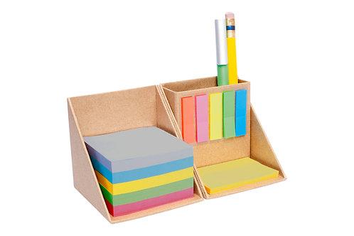 Kit Escritorio Ecológico Porta Lápiz y Notas Adhesivas