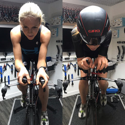 professional bike fit leicester - athlete on bike 2
