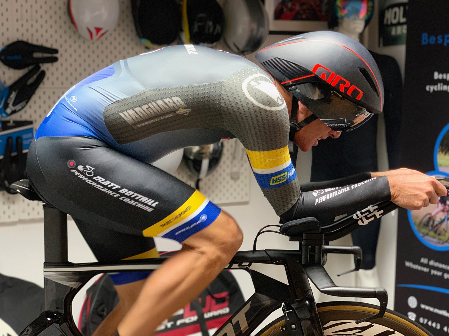 professional bike fitting leicester - athlete on bike