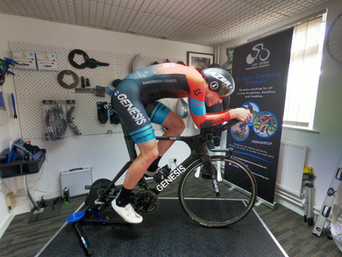 professional bike fitting leicester - athlete on bike 3.JPG