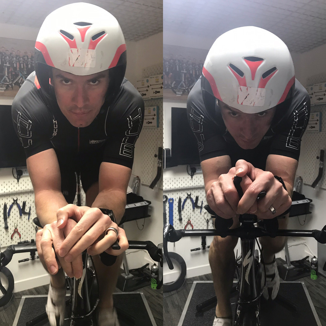 professional bike fit leicester - athlete on bike