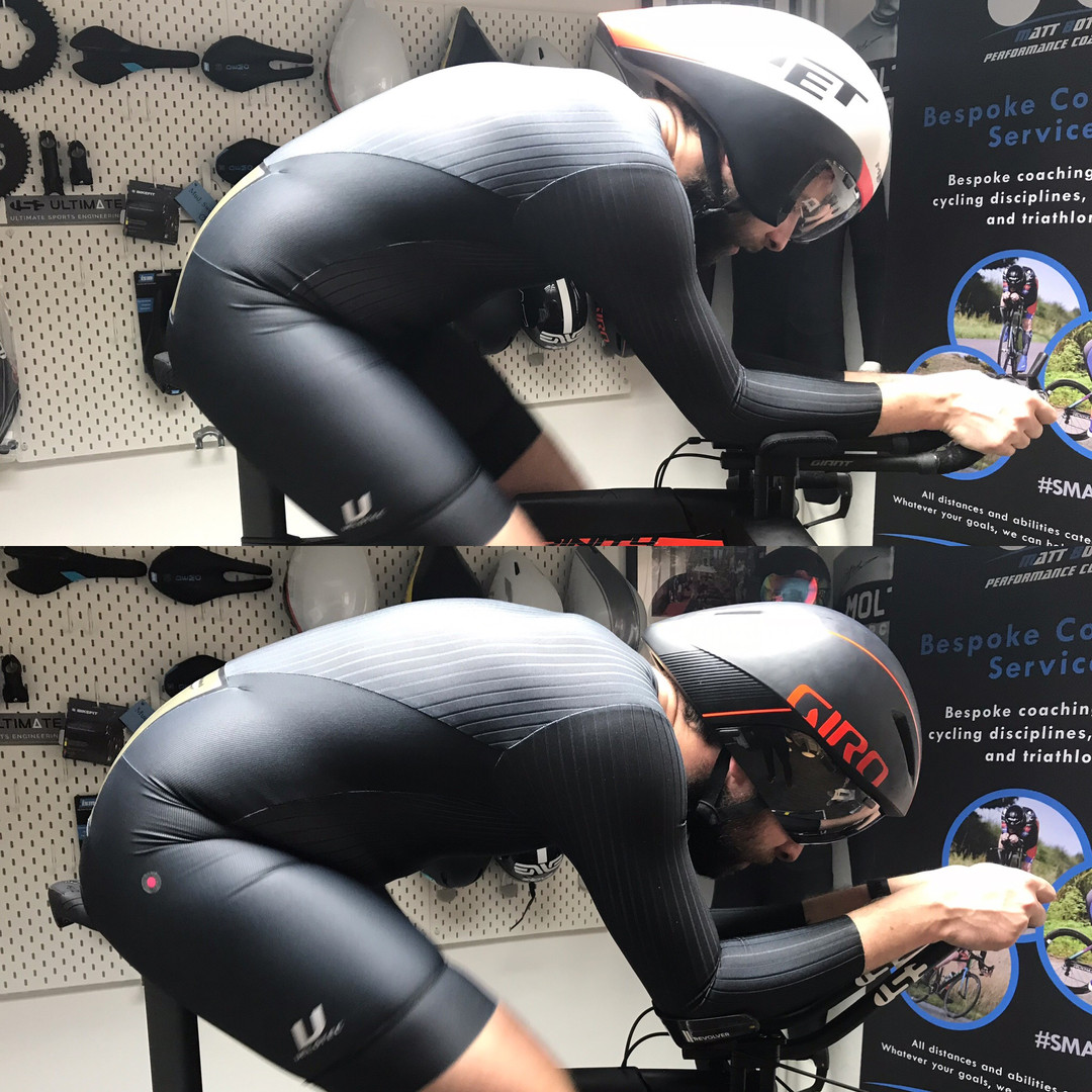 professional bike fitting leicester - athlete on bike 5