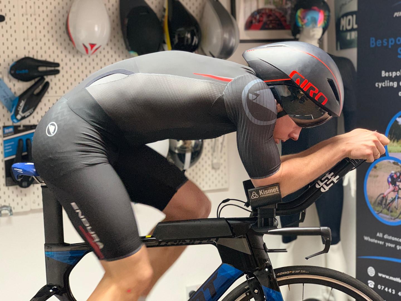 professional bike fitting leicester - athlete on bike 2.JPG