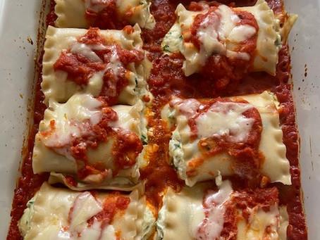 Skinny Lasagna Roll-Ups