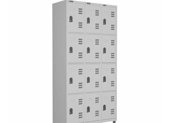 ROUPEIRO de Aço 12 Portas c/ Pitão W3