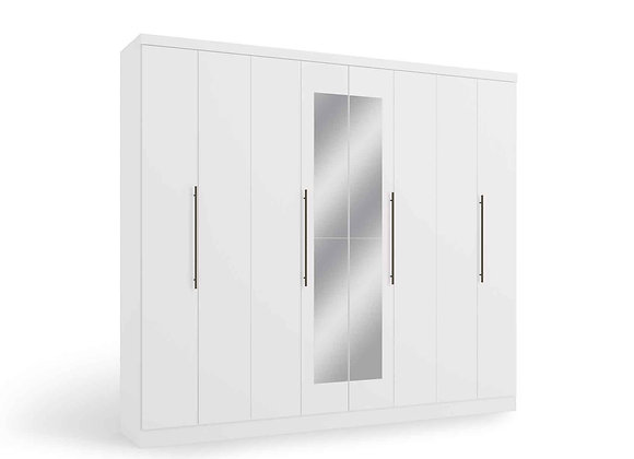 GUARDA-ROUPA Casal H559 Branco 8 Portas Kappesberg