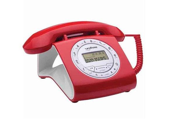 TELEFONE c/ Fio Retrô TC 8312 Digital Vermelho
