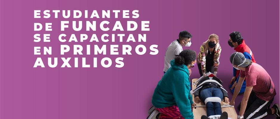 Estudiantes de FUNCADE se capacitan en Primeros Auxilios