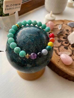 Peruvian Amazonite chakra bracelet