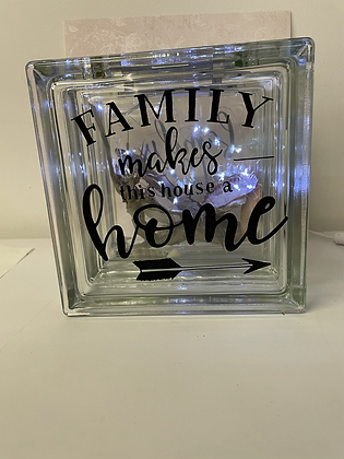 Family makes this house a home glass light up box