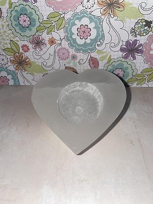 Selenite tea light holder 💛