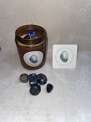Sodalite   aromatherapy candle - positive vibes scent