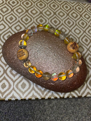 Yellow quartz with make your own sunshine and bee bead