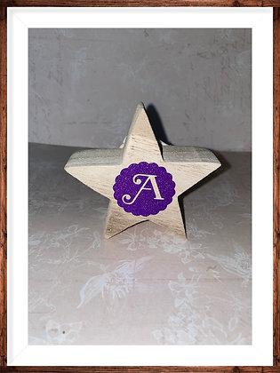 Monogram wooden star