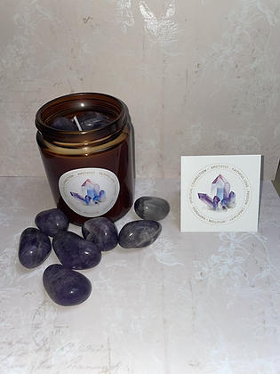 Amethyst aromatherapy candle for creativity