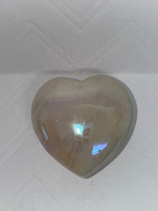 Rose aura quartz heart