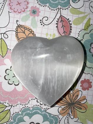 Selenite heart - 6cm