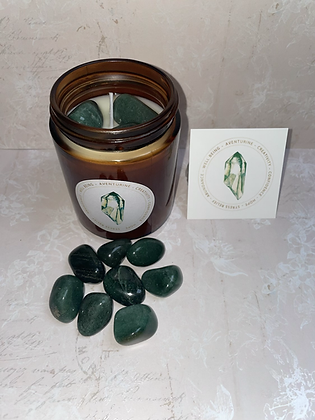 Aventurine  aromatherapy candle - positive vibes scent