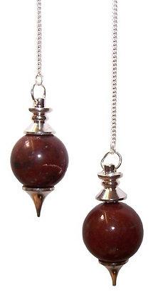 Red Jasper sphere pendulum