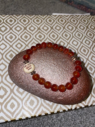 Amber with let your spirit soar bead