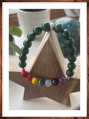 Malachite chakra bracelet