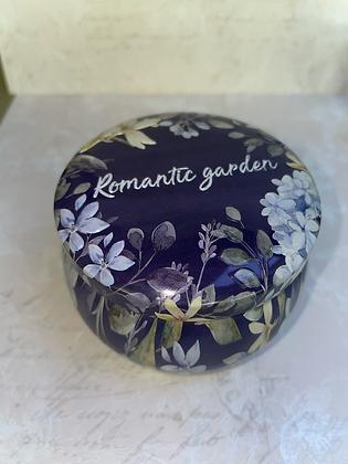 Romantic garden  Hematite candle