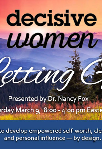 Decisive Women: Letting Go - Event