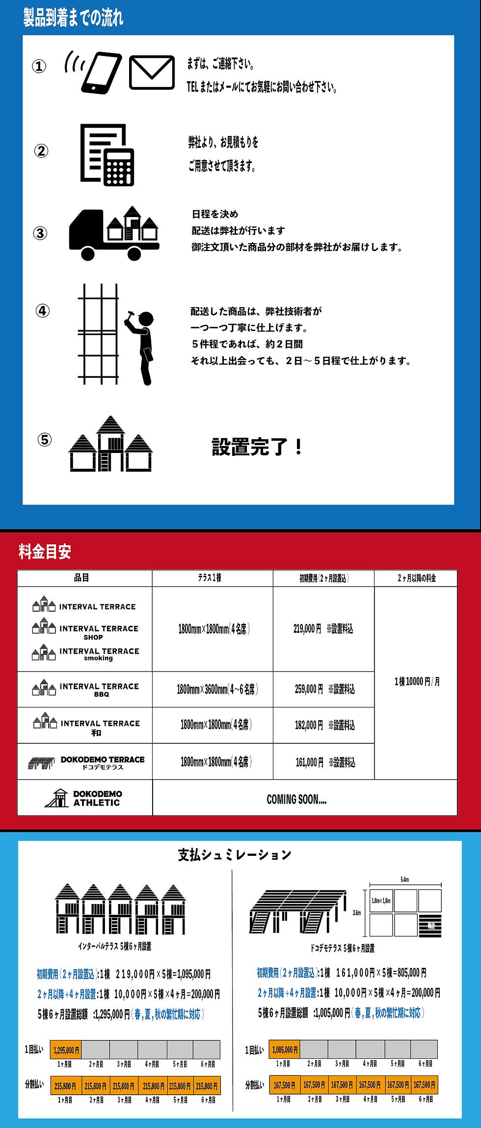 テラス 料金|インターバルテラス 料金表|