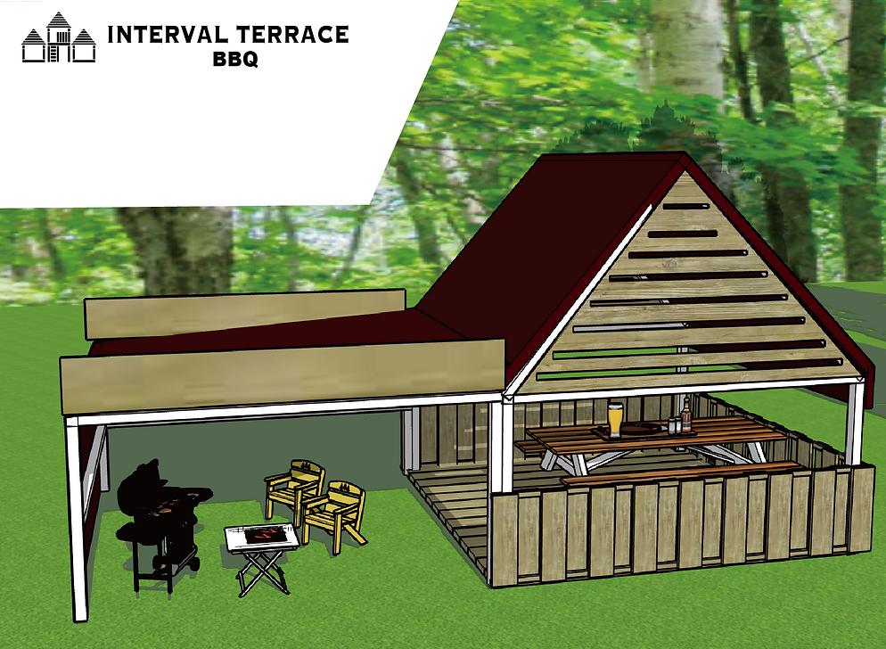 テラス バーベキュー|バーベキュー屋根|個室席制作|野外客席|BBQ広場の作り方