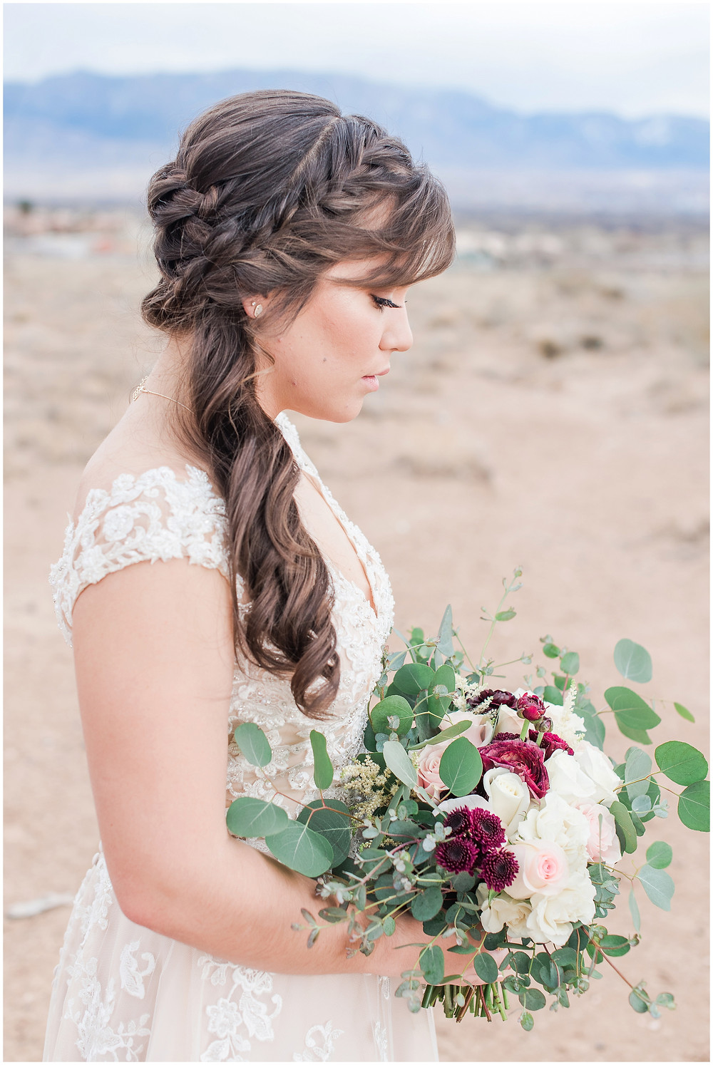 New Mexico wedding photographer. Albuquerque wedding photographer. Noahs event venue wedding. Pink and burgundy wedding. outdoor wedding portraits. bridal portraits. bridal hair and makeup. wedding hair wedding make up