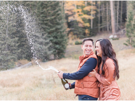 Erica + Casey | An Autumn Engagement in the Santa Fe Mountains| Santa Fe Wedding Photographers