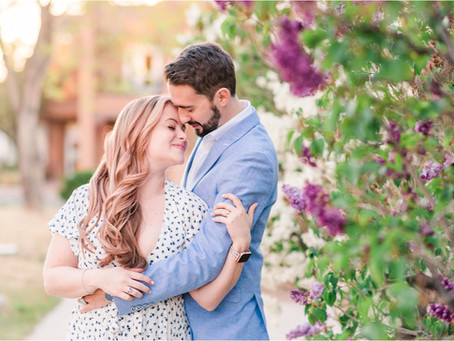 Caitlin & James   A Champagne-Worthy, Downtown Santa Fe Engagement   Santa Fe Wedding Photographers
